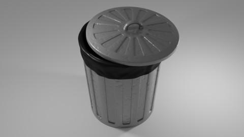 Used Wrinkled Trash Can