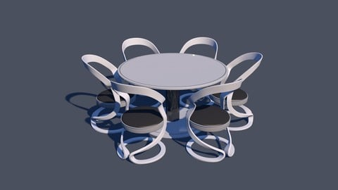 Round DIning Table Set Armchair variant