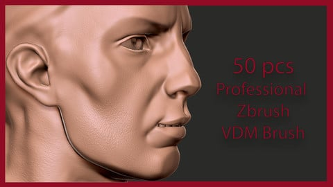 50 Zbrush Skin VDM Brush - Quickly add skin to your 3D Human Characters!