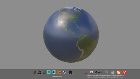 Free Earth Planet 3d Model All format
