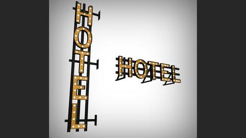 Hotel Bulb Sign