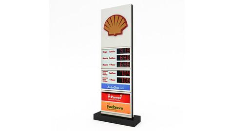 3D Gas Station Sign Model