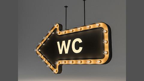 Light Bulb Loft WC Signage