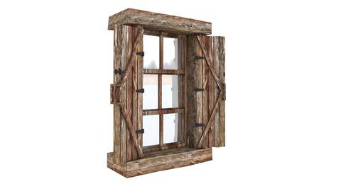 Old Wooden Window 02