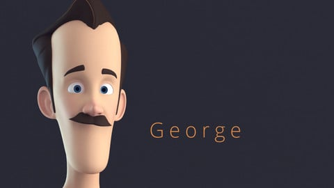 Geroge Stylised Male Cartoon Character