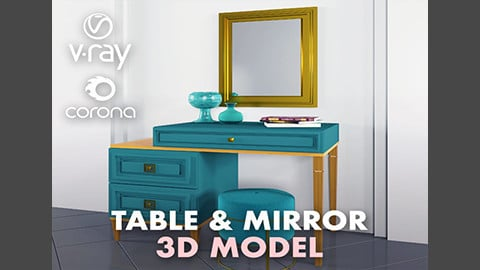 Table and miror set