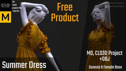 Marvelous Designer, Clo3d. Summer Dress
