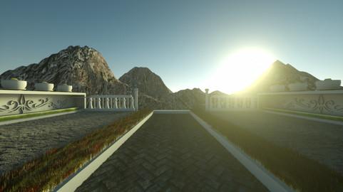 Game scene concept art editable