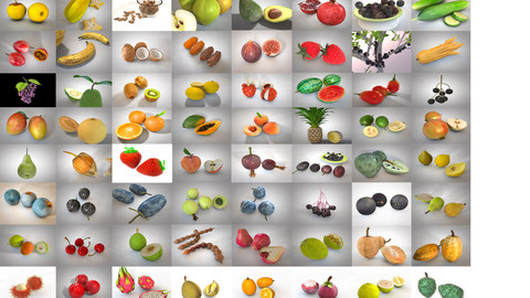 Fruits Collection 3d model