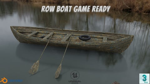Old Row Boat-Game Ready