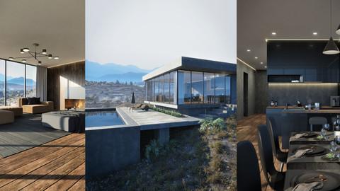 Mountain Sight House Scene