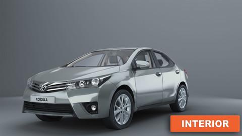 Toyota Corolla 2014 with interior e170 sedan