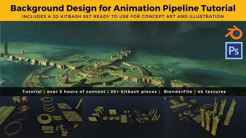 Background Design for Animation Pipeline Tutorial