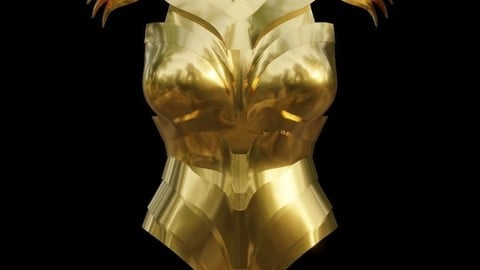 Wonder Woman Golden Eagle Armor For Cosplay 3D print model