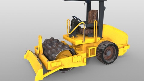 Vibratory soil compactor 3D Model