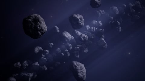 Low-poly asteroid pack! (10x)