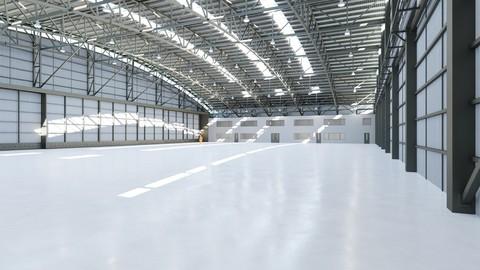 Airplane Hangar Interior 8