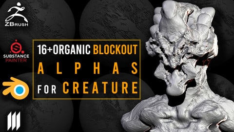 16+Organic BlockOut Alphas for Creature