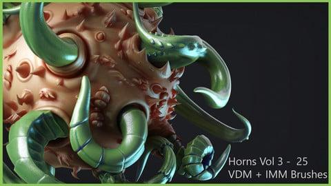 Zbrush - Horns Vol 3 - 25 VDM + IMM Brushes