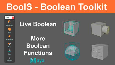 BoolS - Boolean Toolkit for Maya