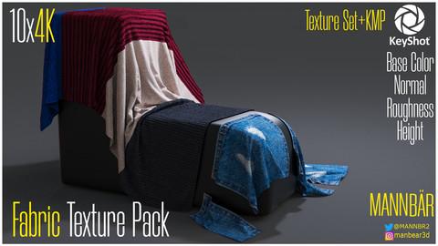 10x4K Fabric Texture Pack + Keyshot Material