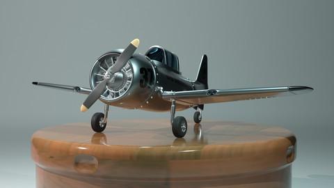 Single-engine plane t-6: full scene 3ds max 2018 in arnold
