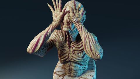 Paleman bust for 3d printing - free model