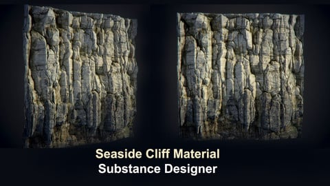 Seaside Cliff - Substance Designer
