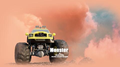 monster truck - 3d model