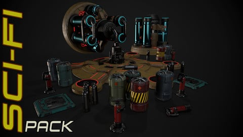 Game sci-fi asset pack