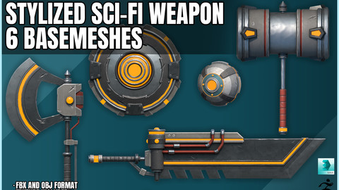 Stylized Sci-Fi Weapon Set