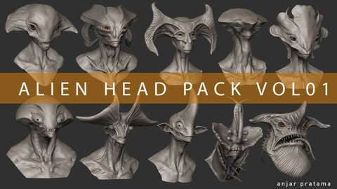 Alien Head Pack Vol 01