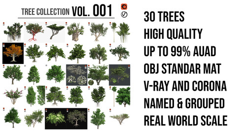 Tree Collection Vol 001 (30 Trees)