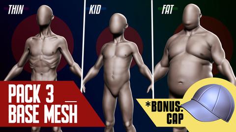 Basemesh Pack of 3