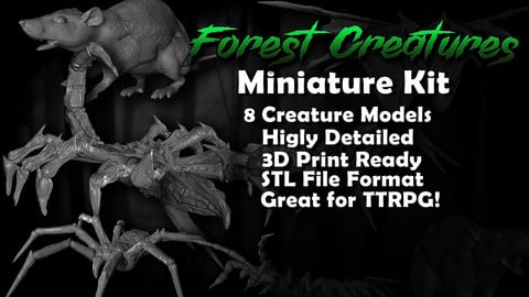 Forest Creature Miniature Kit