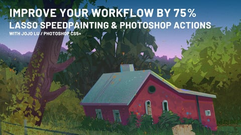 Lasso Speedpainting and Photoshop Actions