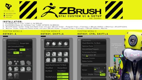 NTAI ZBrush Config + ZTL