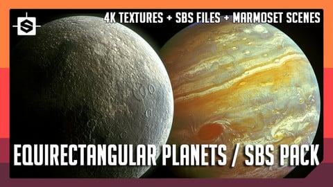 Equirectangular Planets Pack - Substance Designer