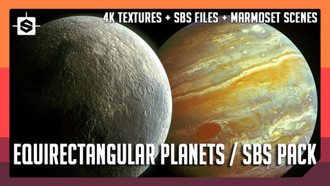 Equirectangular Planets Pack - Substance Designer