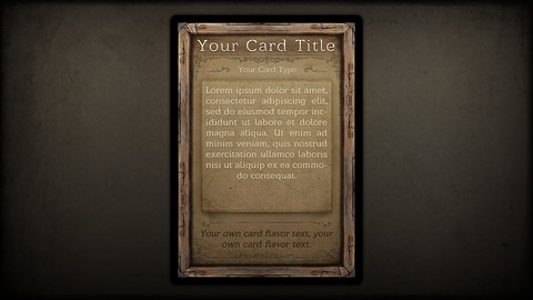 Wooden Fantasy Card Game Template