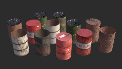 Metallic Barrels Assets Collection