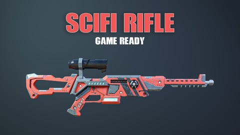 Scifi Rifle Game Ready