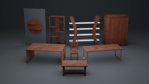 Interior Assetpack 01 [Game ready]