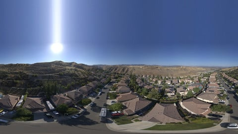 Aerial HDRI 26K 16Bit Suburb Day Pack of 3