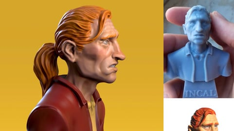 Free printable John Difool Bust an Incal and Moebius Tribute