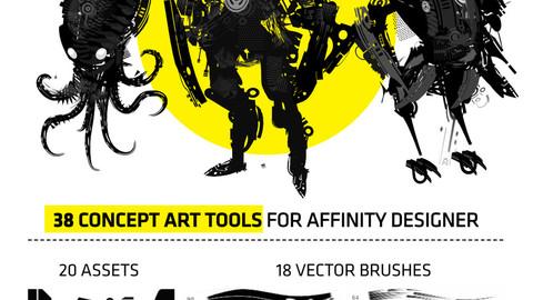 SciFi Starter Pack for Affinity Designer