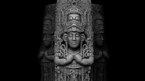 Ancient Mayan Statue 3D print model
