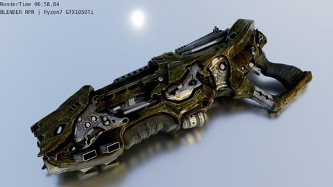 Free alien gun | blend obj max
