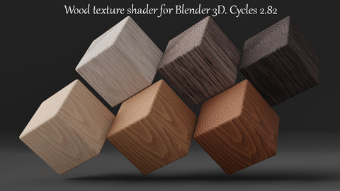 Wood Texture Shader For Blender 3d. Cycles 2.82