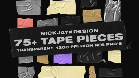 Tape Pieces - 75+ Transparent PNGs